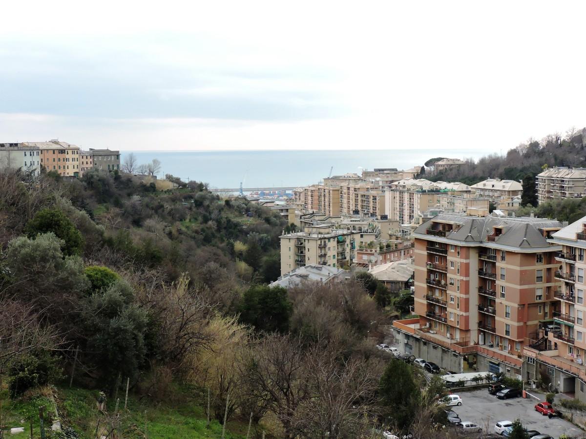 Sampierdarena – Belvedere – 4 vani con veranda vista mare € 60.000